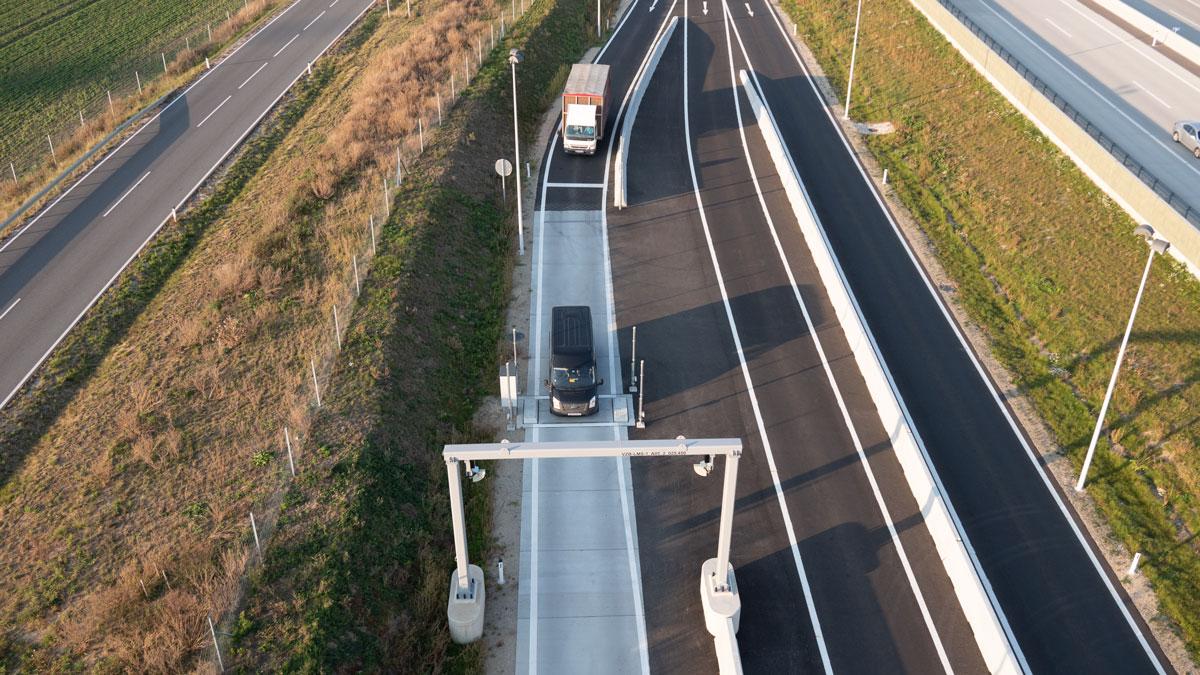 selbsttätige, elektromechanische Straßenfahrzeugwaage