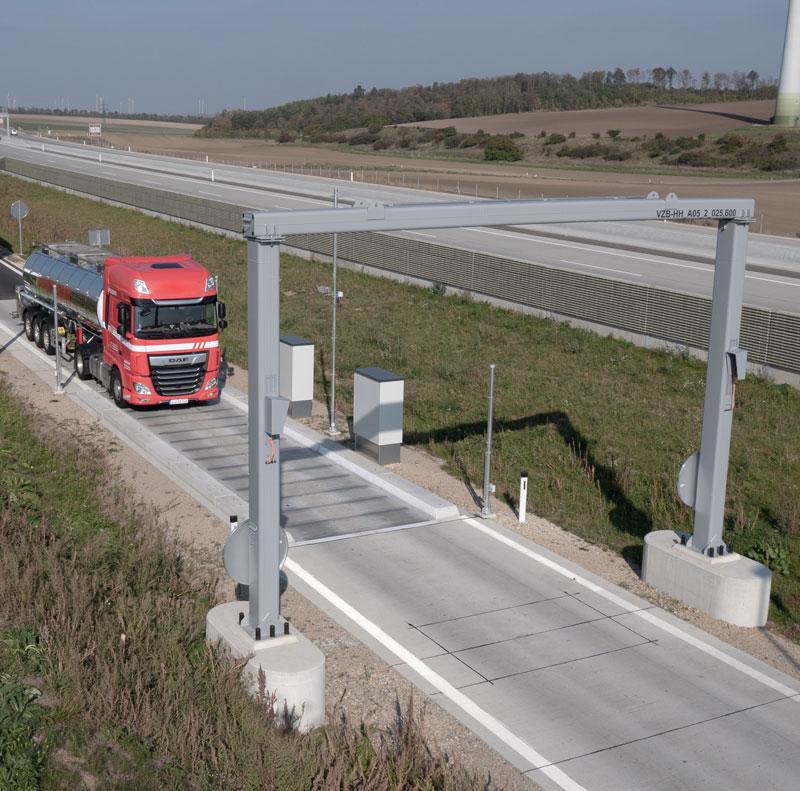 Straßenfahrzeugwaage zur dynamischen Überprüfung von überladenen Fahrzeugen